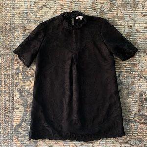 Ro & De Black Lace Blouse